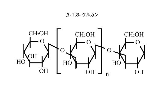 β-1,3-グルカン構造式